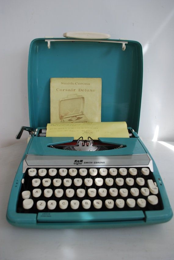 Blue Corona. Smith-Corona was one of the longest running typewriter companies beginning in 1886 and lasting until the early 1980's