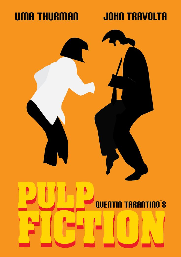 Minimal movie poster ~ Pulp fiction