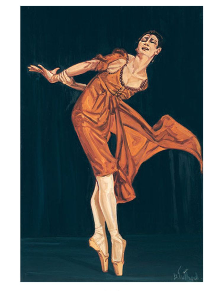 #CarlaFracci #DoloresPuthod Omaggio A Carla Fracci #TeatroAllaScala #Dipinti #arte #Danza #Pittura