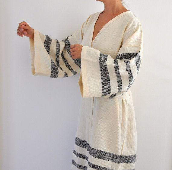 Robe Peshtemal Bath Robe Kimono Robe Caftan by ecofriendlybeauty, $70.00