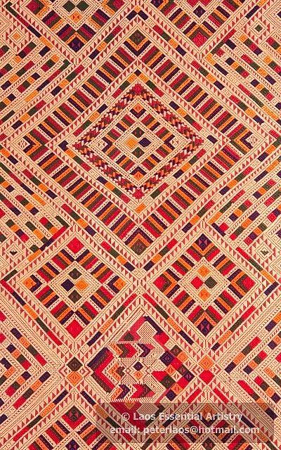 Laos Textile Motif Photo071 F I B R E T E X T I L E S
