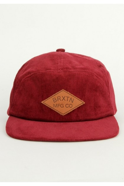 Brixton Clothing Wharf Strapback Hat - Maroon