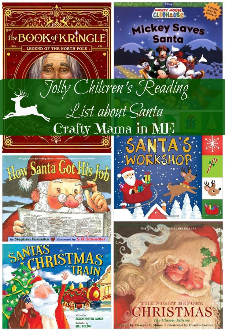 Jolly Childrens Reading List of books about Santa