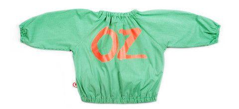 OZ gingham blouse green