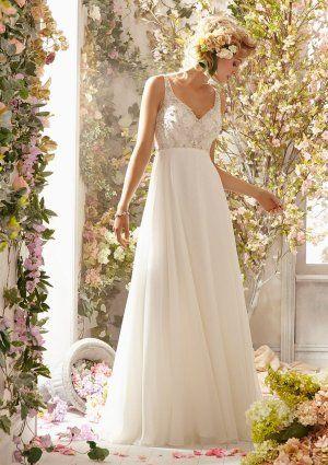 MORI LEE VOYAGE WEDDING DRESS 6771