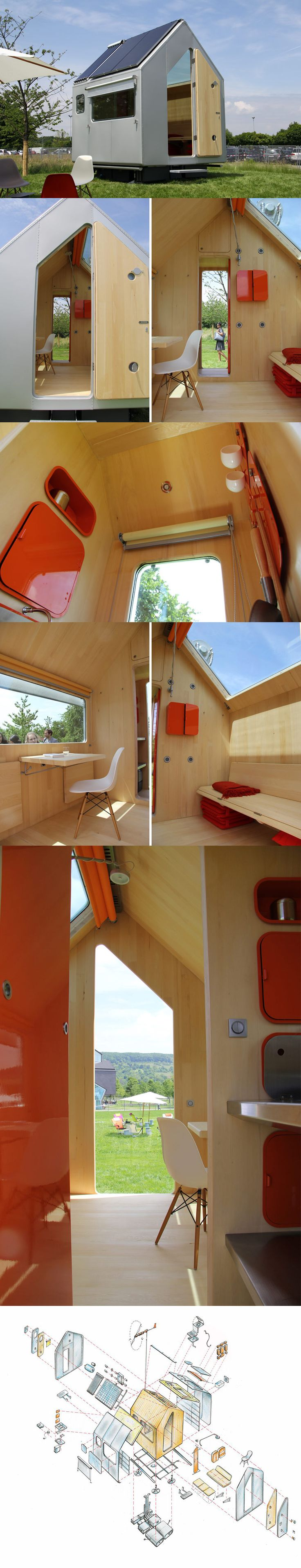 Tiny cabin designed by Renzo Piano