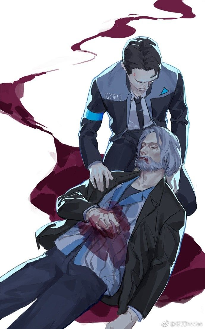 Detroit become human   DBH  Connor and Hank   DBH ah the androids