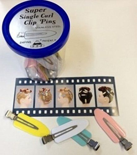 Lady Mate Super Single Curl Clip Pins / 24 Clips Per Jar of No Mark Pin Curl Clips From ProHairTools -- You can find out more details at the link of the image. (This is an affiliate link and I receive a commission for the sales)
