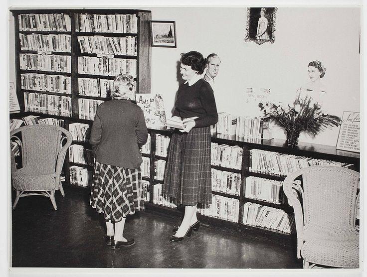 Interior view of Parramatta City Library, undated, c. 1950s.