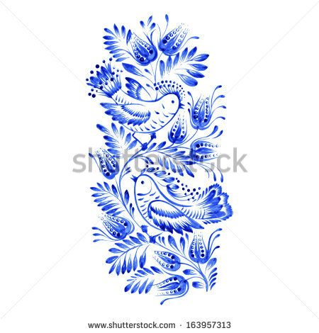 Ultramarine Plant On Watercolor Paper As A Circle Frame Stock Photo 184546283 : Shutterstock