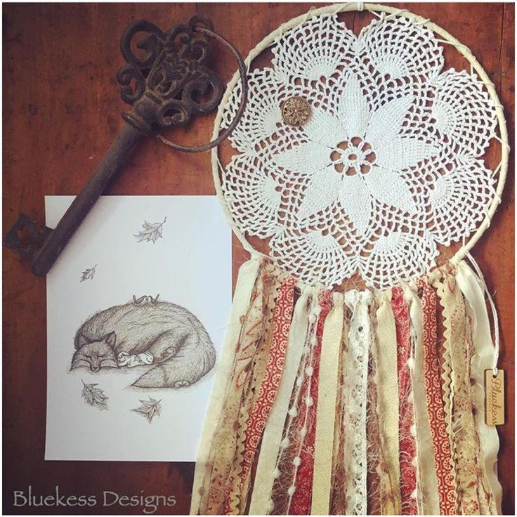 Boho Up-cycled Vintage Dream Catcher in earthy tones. by BluekessDesigns on Etsy