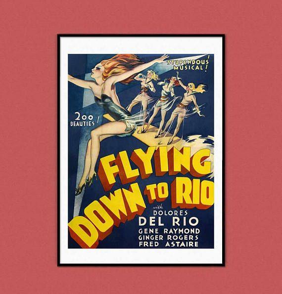 Flying Down to Rio Circus Musical Retro Vintage Nostalgic