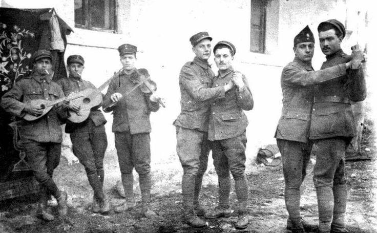 Yunan askerlerinin eğlencesi.(Under Greek occupation)