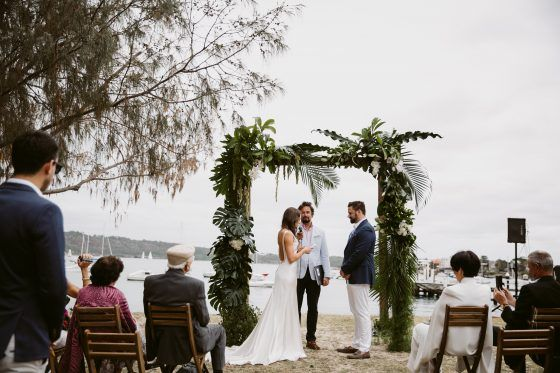 Watsons Bay Boutique Hotel waterfront wedding ceremony