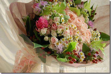Pink rose bouquet ピンクの薔薇花束
