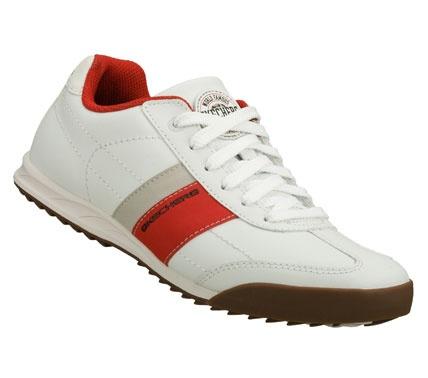 SKECHERS Mens Ascoli Winning Streak Lace-up Sneakers - White/Red - 6.5
