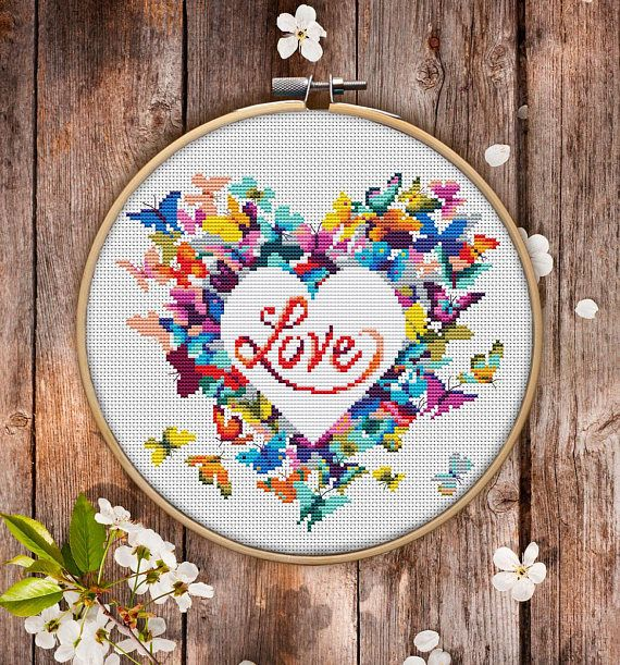 This is modern cross-stitch pattern of Heart for instant download.  You will get 7-pages PDF file, which includes: - main picture for your reference; - colorful scheme for cross-stitch; - list of DMC thread colors (instruction and key section); - list of calculated thread length  The size of the picture is 7.71 X 7.07 (19.59 cm X 17.96 cm) - 130 X 130 stitches on Aida 14 count  It is a digital pattern and will be available to download when the payment will be received.  If you have any…