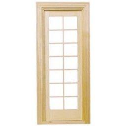 "HOUSEWORKS 1"" Scale Dollhouse Miniature - Single French Door (6022) 022931060229 B003AKUU70"