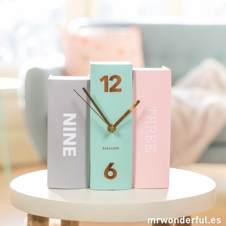 """Reloj de sobremesa """"Books"""" #decoration #books"""