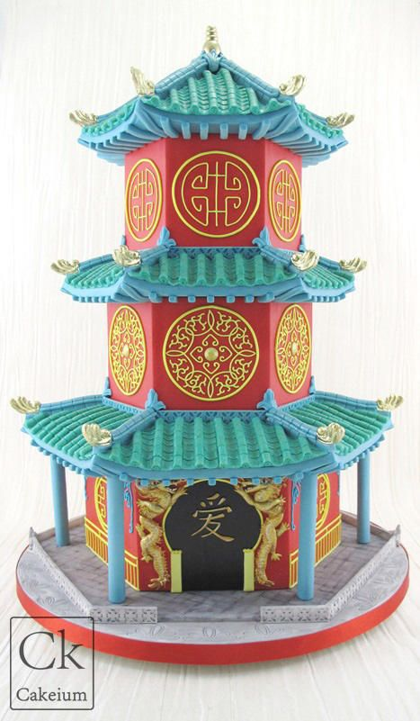 Chinese Pagoda Wedding Cake - Cake by Natasha Shomali