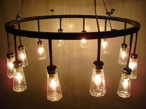 salt shaker chandelier: Cellar Chand, 12 Salts, Trav'Lin Lights, Rustic Lights, Salts Cellar, Shakers Chandeliers Clev, Homeoff Design, Lights Ideas, Salts Shakers