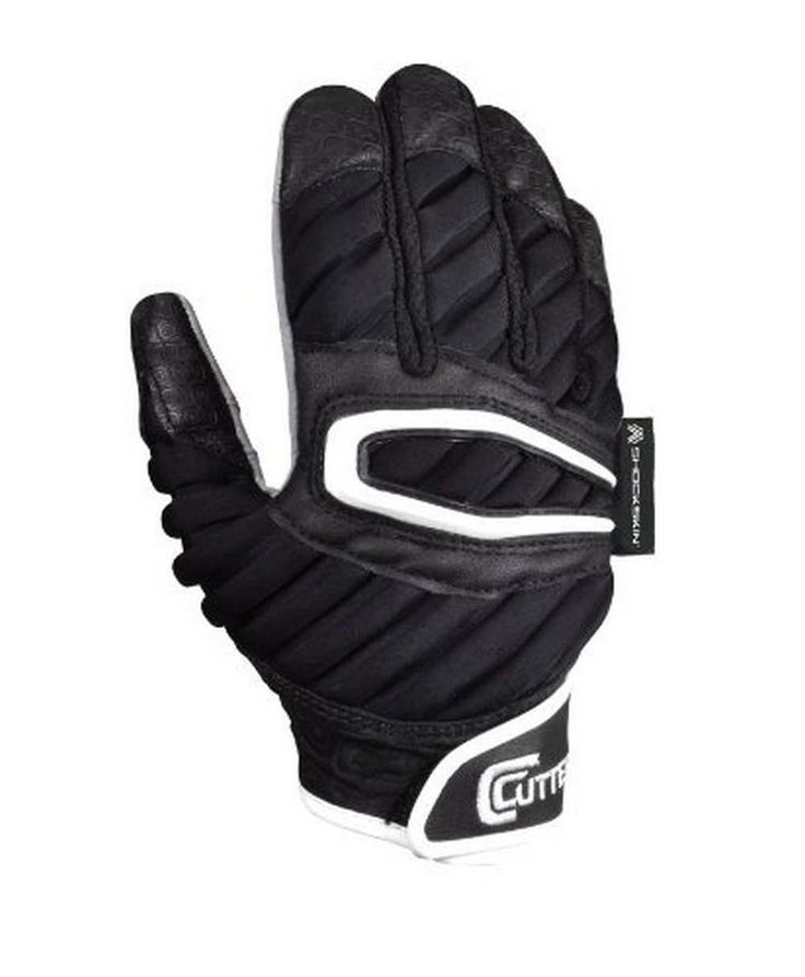 Cutters Football Gloves The ShockSkin Lineman Glove, Black Assortment. S90-01