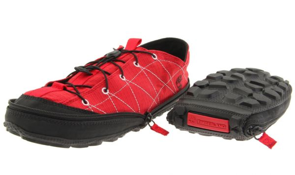 Folding Zippable Camp Shoes-Timberland.   Great for your most serious backpacking pals or the car camper who just likes to get out of the city. Anyone who enjoys slipping into a more lightweight and comfortable shoe while hanging out at the campsite will appreciate these compact and comfy shoes.