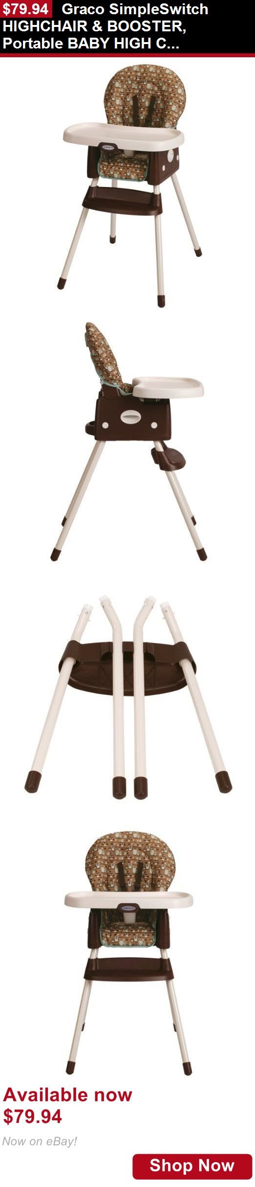 Baby High Chairs: Graco Simpleswitch Highchair And Booster, Portable Baby High Chair, Little Hoot BUY IT NOW ONLY: $79.94