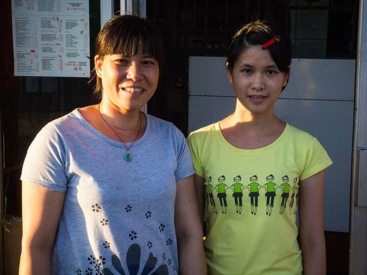 Qiuo Hua Huang y su hija