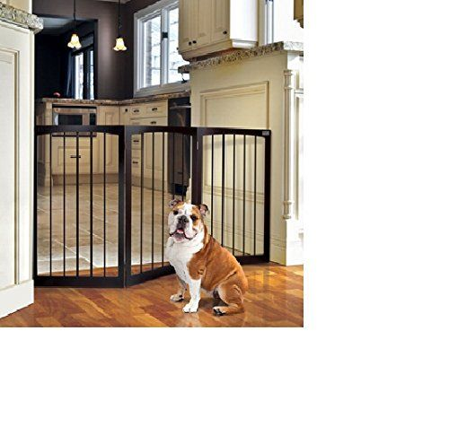 Free Standing Wooden Pet Gate! On Sale! It Has Limited Access to Certain Parts in Your Home. Theses Dog Gates of Any Type Have No Problems Without Any Required Installation! It's Easy to Store w/ This Portable Dog Fence! Satisfied! Guaranteed or Else! *** Find out more at the image link.