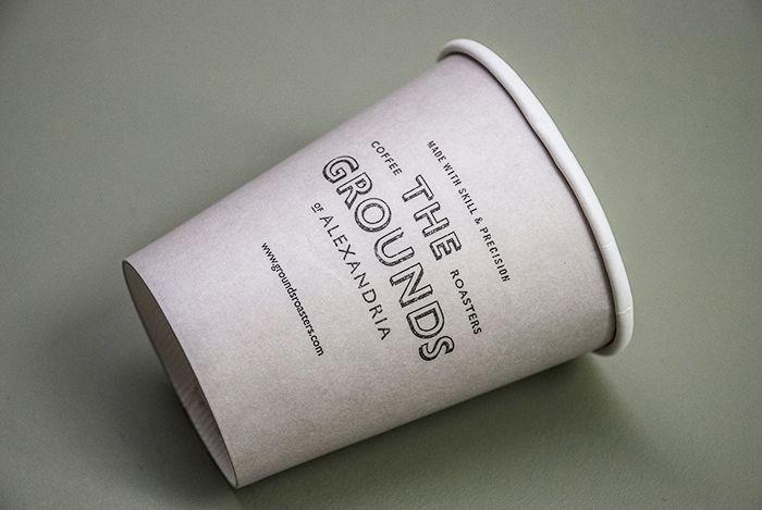 The Grounds packaging by Folke Studio: Design Inspiration, Branding Menu, Ground Packaging, Ground Coffee, Folk Design, Alexandria Collat, Ground Branding, Coffee Cups, Design Packaging