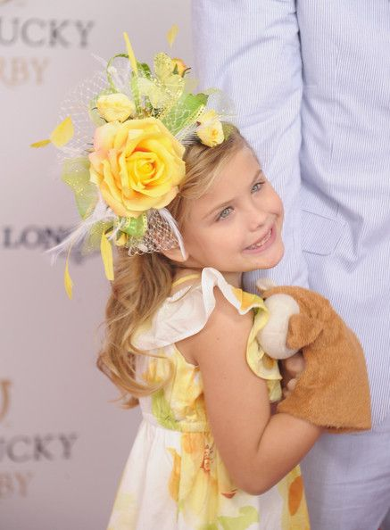 Dannielynn Birkhead  Kentucky Derby -    Anna Nicole Smith's daughter. She is gorgeous. I would expect nothing less.  PattyonSite