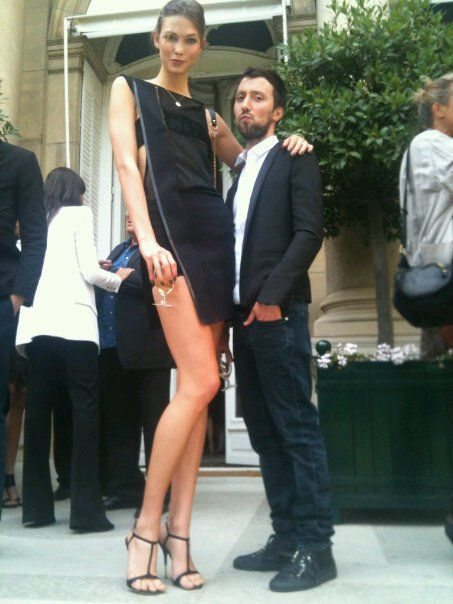 Karlie Kloss. Holy cow, she's tall. But her body proportion is just amazing.