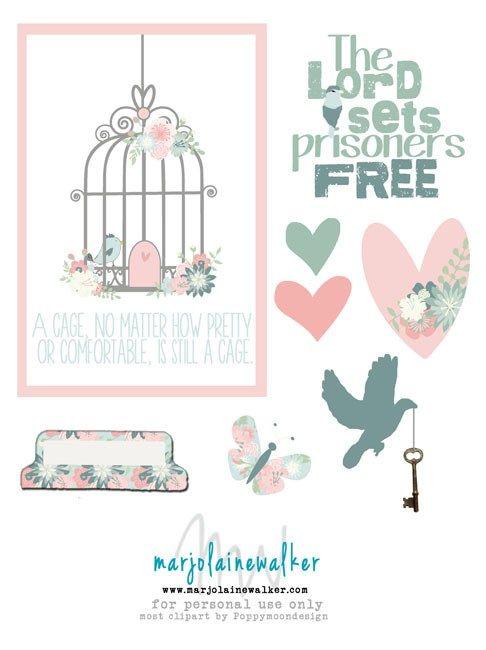 Set Free Bible Journal Printable - Marjolaine Walker #freeprintable #biblejournaling