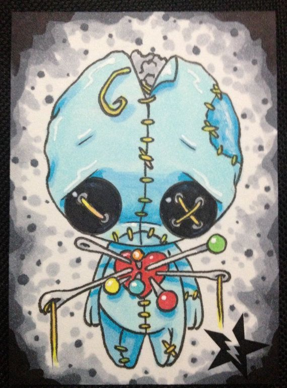 Sugar Fueled Voodoo Doll Boy Blue lowbrow creepy by Sugarfueledart, $4.00