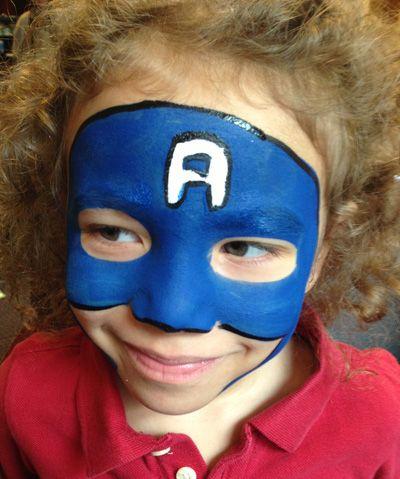 Trucco del viso per Carnevale per bambini da Capitan America