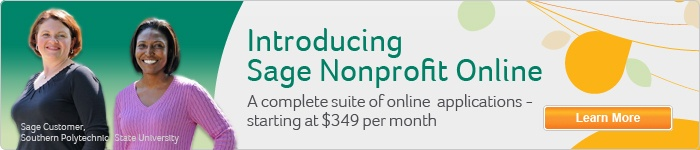 Sage/Fundraising and No Profit - Meet the complex challenges of nonprofit and government financial management with award-winning Sage 100 Fund Accounting Software