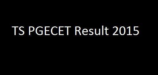 TS PGECET Result 2015