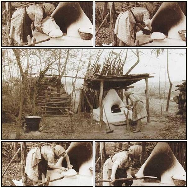 A kenyérsütés mozzanatai Kéleshalmon (Bács-Kiskun m.), népi nevén Illancsban. 1960-as évek második felében. - Hungary