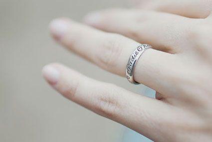 baby name rings - so precious!