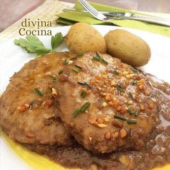 Esta receta de lomo con salsa de almendras es fácil y muy especial. La hemos preparado con lomo de cerdo pero puedes usar otros cortes o pechuga de pollo.