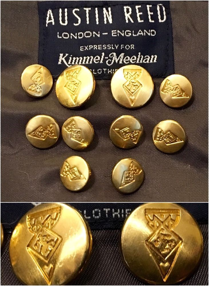 Austin Reed Gold Tone Replacement Blazer Suit Jacket Buttons Set Lot Of 10pc Jacket Buttons Austin Reed Blazer Suit