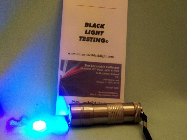 "Check POSTAGE STAMPS & TAGGING w 9 LED LONGWAVE 3.5"" long  365nm UV BLACK LIGHT #HK"
