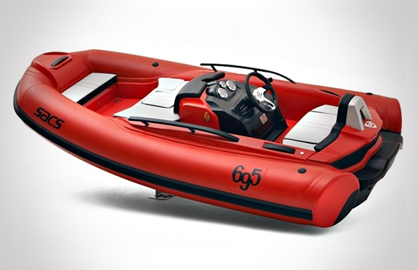 This limited edition, waterjet-propelled RIB (Rigid Inflatable Boat) was designed by Christian Grande to pay homage to two iconic Italian brands—Ferrari and Abarth, the Italian racing car.    Read more: http://headlinesandheroes.com/page/6/#ixzz1nEQ7iz4M