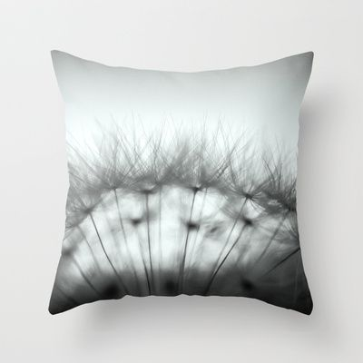 Dandelion & Sun I. (black) Throw Pillow by Martin Misik - $20.00 // #pillow #print #art #society6 #dandelion #sunset #prague #macro #flower #blue #yellow #fluff #seed #flying #calm #quiet #still #relaxation #meditation #evening #blackandwhite #bw #globe
