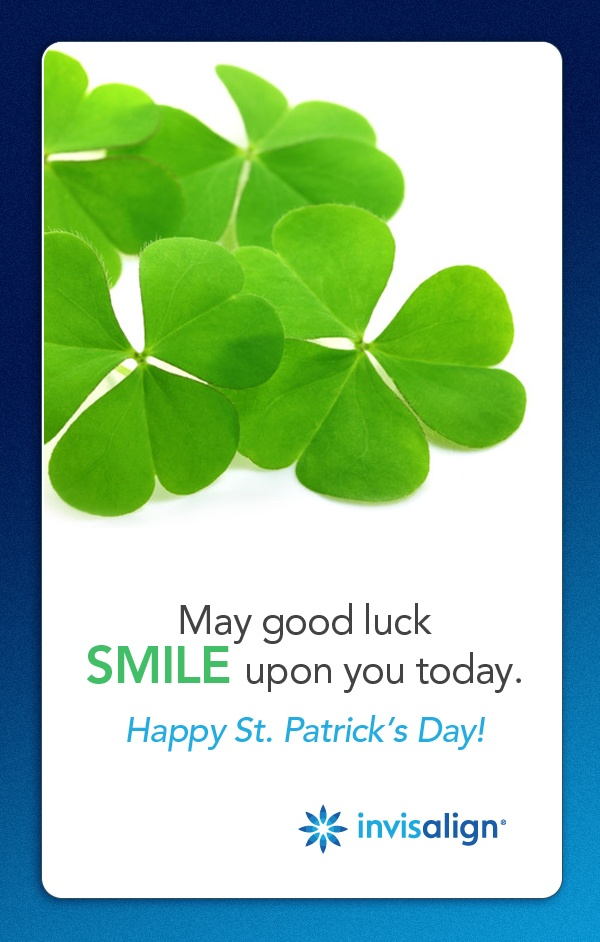 REPIN to send good luck to all of your friends this St. Patrick's Day! #Invisalign is sending #smiles your way. #holiday