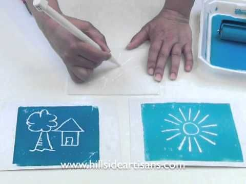 Instructional video on how to use styrofoam and waterbased block ink to experience printmaking