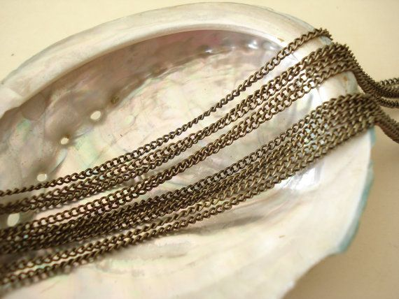 9Feet Antiqued Bronze Metal Chain Waved Oval 18mm by yooounique
