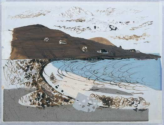 'Beach at Donegal' by John Piper, c1937 (watercolour, collage and mixed media)