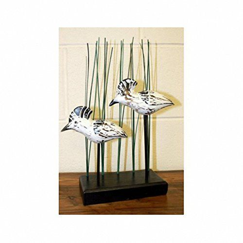 Wooden Art - Water Hens. H: 35 cm W:20 cm D:10 cm. A perfect gift - great for Birthdays, Christmas...... by TTG(AW) - General Giftware, http://www.amazon.co.uk/dp/B00P34X7VW/ref=cm_sw_r_pi_dp_x_fYEqzbJM6Y7JQ